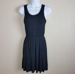 Loft black knit dress